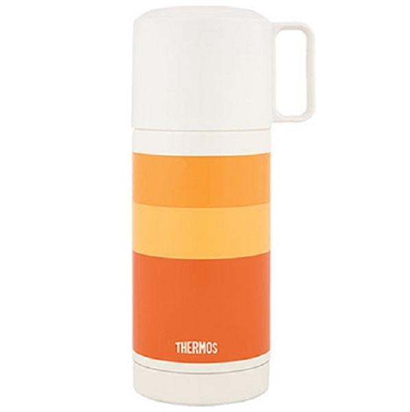 Термос Thermos с широким горлом FEJ-350 Orange 0.35 л (цвет оранжевый)Термосы<br>Удачно сочетаются конструктивные особенности чашки-крышки и пробки кнопочного типа. Пробка откидывается одним нажатием руки благодаря встроенной пружине.<br>