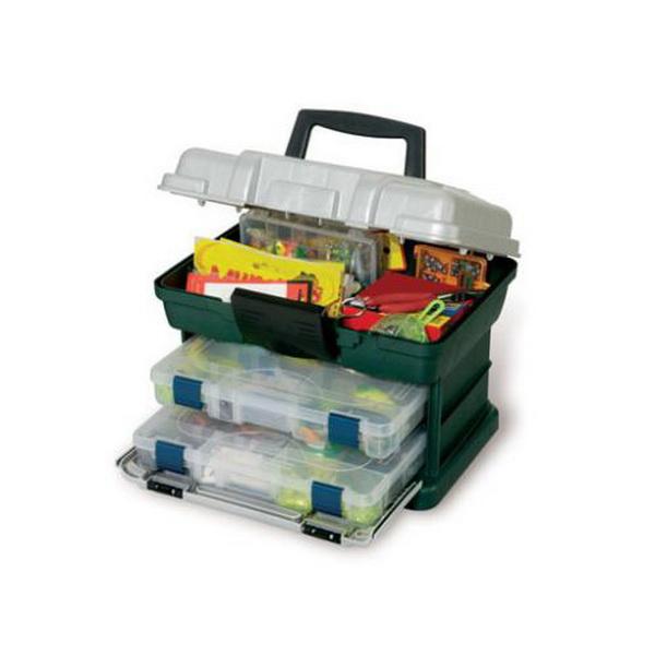 Ящик Plano 1362-00Ящики<br>Ящик для рыболовных принадлежностей, выполнен из ударопрочного пластика, с надежными запорами.<br>