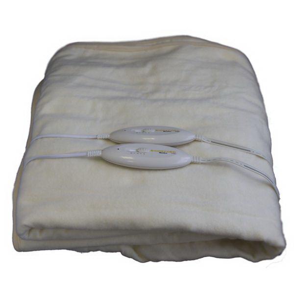 Одеяло Biddeford электрическое FH95HСпальные мешки<br>Двуспальное электрическое одеяло быстро согреет Вас в холодную или сырую погоду. Модель имеет 4 температурных режима для настройки нужного уровня подогрева, съемный сетевой кабель и индикатор сети.<br>