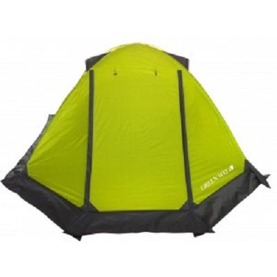 Палатка GreenWay 2 местная Алатау 100415FПалатки<br>Каркас палатки состоит из 2-х дуг, имеет малый вес  2,9кг  и при этом хорошо противостоит ветру.Сборка займет около 10 мин.<br>