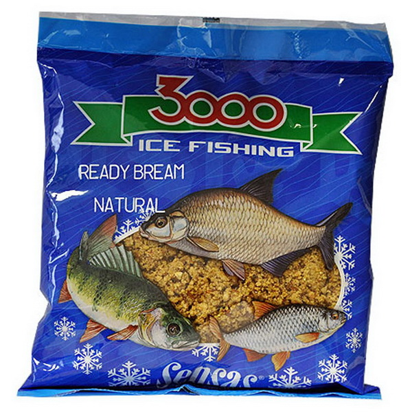 Прикормка Sensas зимняя готовая 3000 Bream Natural 0,5кг