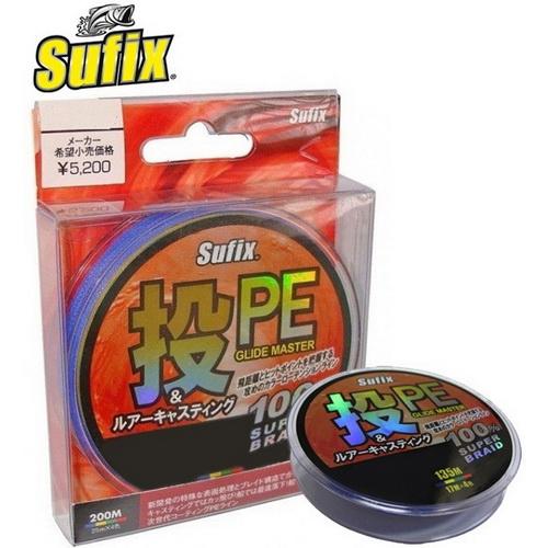 Леска плетеная Sufix PE Glide Master Multicolor 135м #2.0 (0.235 мм) (49078)Плетеные шнуры<br>Леска с плотными плетением, и гладкой поверхностью. Разноцветно окрашена.<br>