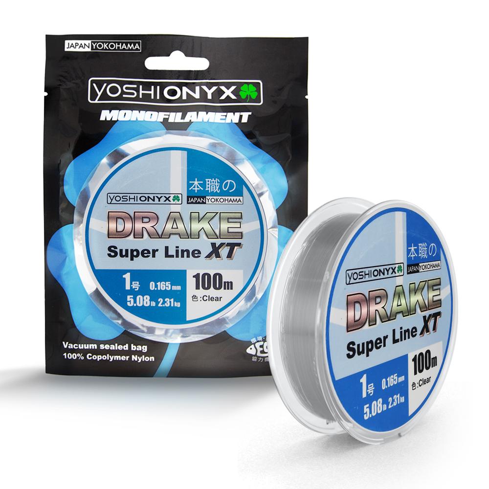 Леска Yoshi Onyx Drake Superline XT 100M ClearМонофильные лески<br>DRAKE Fluoro от  Yoshi Onyx это полноценная флюорокарбоновая леска, предназначена как для намотки на шпулю катушки, так и для монтажа разнообразных оснасток. Трогательно мягкий и удивительно скользкий этот флюр, с  невероятной лёгкостью проходя по кольцам...<br>