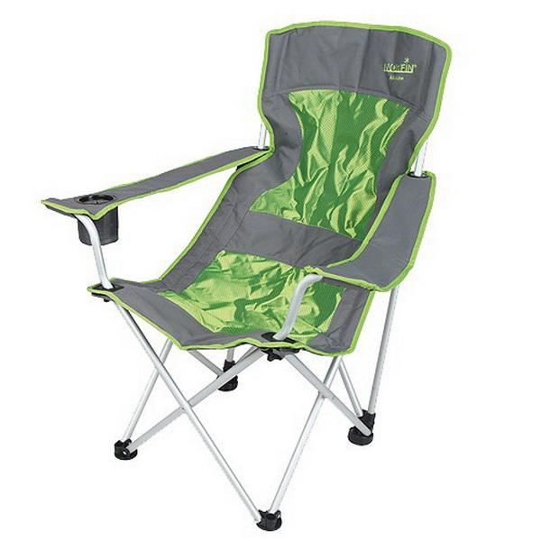 Кресло складное Norfin Leknes NF AluСтулья, кресла складные<br>Компактное складное кресло с подлокотниками из ткани и высокой спинкой.<br>