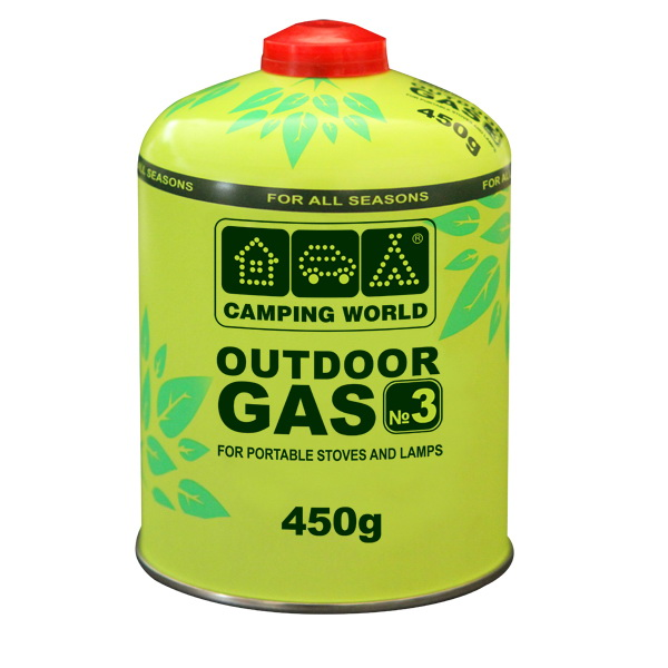 Картридж Camping World газовый CW450Газ<br>Резьбовой газовый картридж, весом 450г.<br>