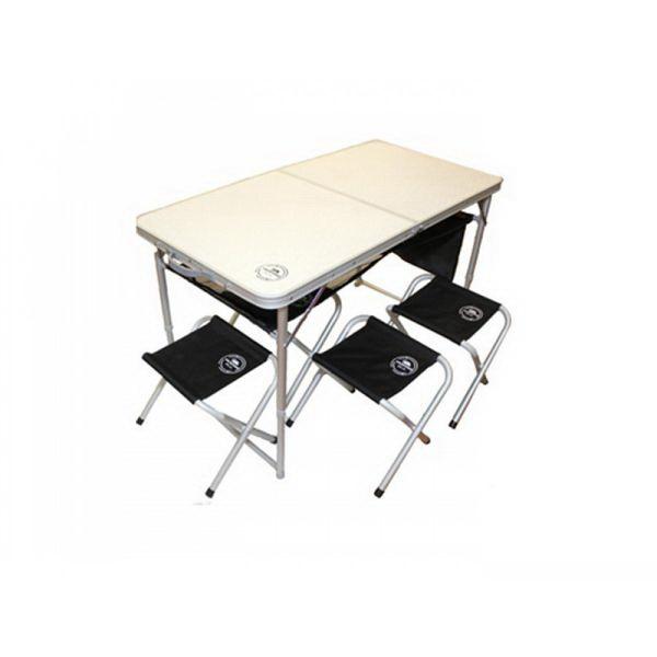 Стол-чемодан Intex 4стула 120х60х69см (в сбор.63х63х8), стул41х29х34, 7,5кг, ал.d25ммСтолы складные<br>Удобный набор для дачи и пикников. Идеально подходит для отдыха на природе. Позволяет с комфортом разместиться 4 людям.<br>