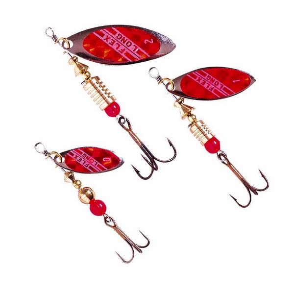 Набор блесен Zebco Spinner Assortment Long FlexБлесны<br>Набор приманок для ловли рыбы. Состоят из двух частей: стержня – каркаса и металлического лепестка, вращающегося вокруг этого стержня.<br>