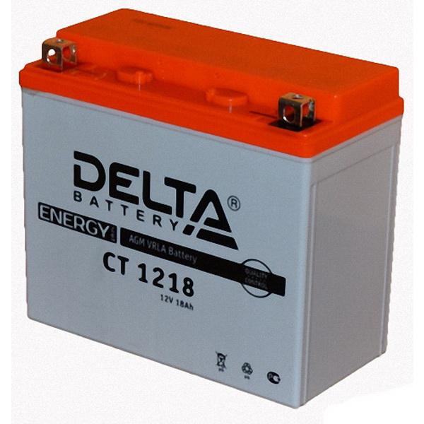 Аккумулятор Delta СT 1218Аккумуляторы<br>Аккумулятор с напряжением 12V, предназначенный для использования в дизельных генераторах, мотоциклах, водных мотоциклах и другой технике.<br>