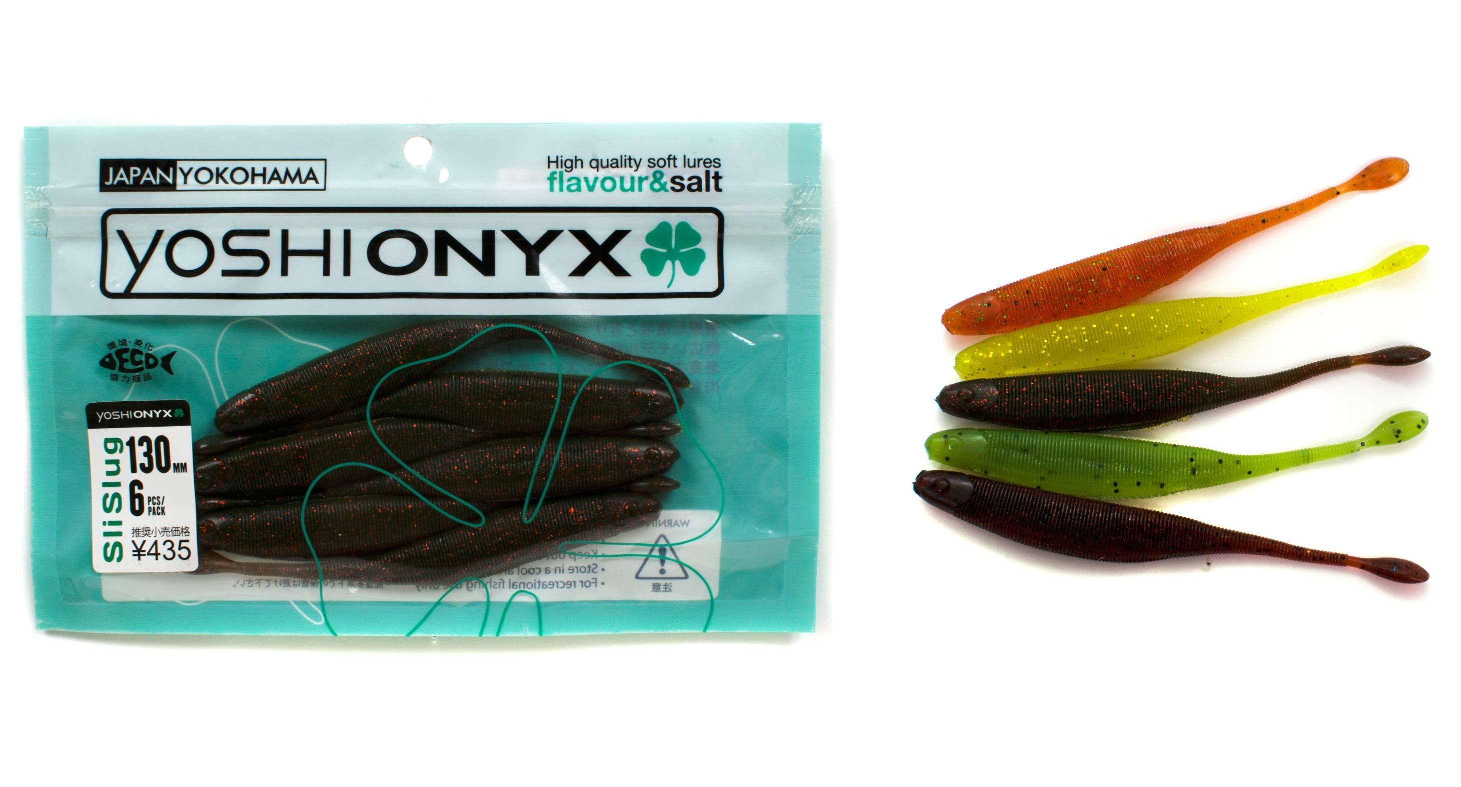 Приманка Yoshi Onyx SliSlug 5.1Мягкие приманки<br>Большой и эластичный SliSlug от Yoshi Onyx обладает удивительно неотразимой игрой. Своими габаритами и сильнейшими  вибрационными волнами он моментально обращает на себя внимание крупных обитателей акватории.<br>