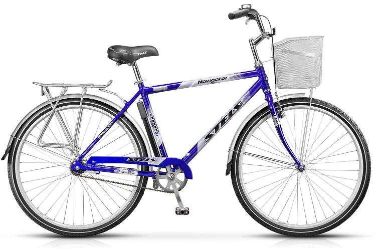 """Велосипед Stels Navigator-360 Gent 28.13Велосипеды Stels<br>Дорожный велосипед с диаметром колёс 28"""", подходящий для движения как по городу, так и по ровным грунтовым дорогам.<br>Алюминиевая рама, жёсткая стальная вилка, задний ножной тормоз, передний тормоз V-типа. <br>Руль и седло регулируются по высоте.<br>"""
