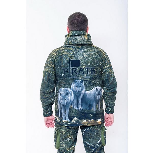 Костюм Pirate Tundra (Волки) 52-54 (170-176) (81765)Костюмы/комбинзоны<br>Мембранный костюм для охоты, изготовленный компанией Pirate-tex - ведущей компанией по производству одежды для рыбалки и охоты. Это демисезонная модель с эксклюзивной маскировочной расцветкой.<br>