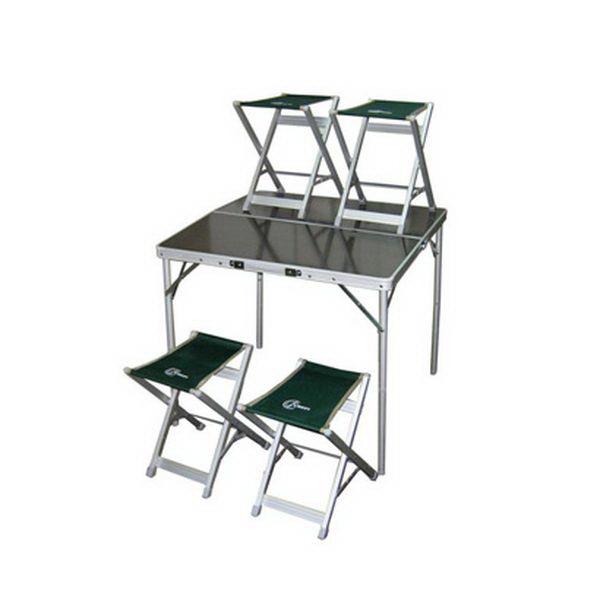 Стол-чемодан Intex 4стула 80х80х70см ал.труба d22мм до30кг (стул 33х25х40см до 100кг)