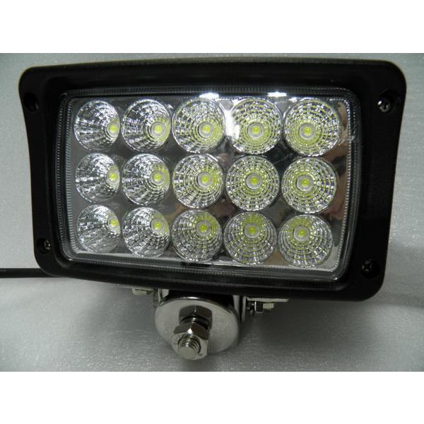 Фара DA С/Д 1020-45W spot beamСветовые приборы<br>Прямоугольная светодиодная фара, которая включает 15 диодных ламп. Каждая лампа имеет напряжение 3W.<br>