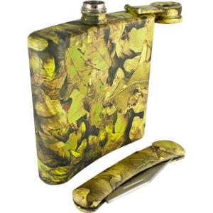 Набор охотника Adrenalin Hunter Camo (складной нож, фляга)Ножи разные<br>Набор охотника Adrenalin Hunter Camo это отличный подарок любителям путешествий, туризма и активного отдыха. Набор состоит из алюминиевой фляги и карманного ножа в камуфляжной расцветке.<br>