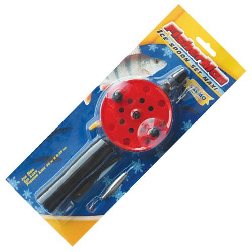 Удочка-комплект зимняя Fisherman Ice Spoon Set Maxi S750SET (96696)Удочки зимние<br>Комплект зимней удочки с блесной и намотанной на шпулю леской Fisherman Ice Spoon Set. Удочка с длинной неопреновой рукояткой, открытой шпулей и клавишным стопором. Хлыстик оснащён металлическим тюльпаном с керамической вставкой.<br>