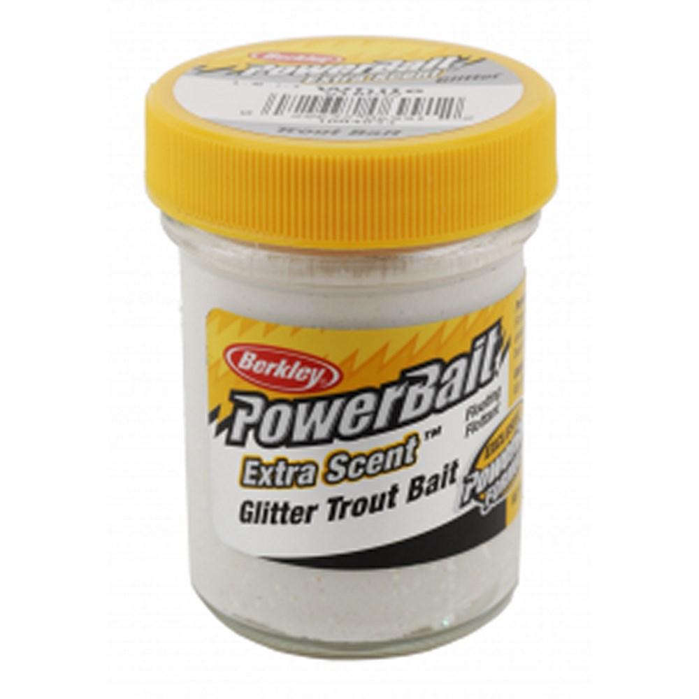 Форелевая паста Berkley Select Glitter TroutBait, 50г, цв. белый (61846)