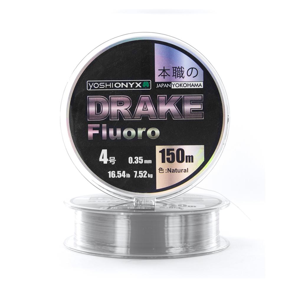 Леска Yoshi Onyx Drake Fluoro Natural 150м 0.21  (89489)Флюорокарбон<br>DRAKE Fluoro от  Yoshi Onyx это полноценная флюорокарбоновая леска, предназначена как для намотки на шпулю катушки, так и для монтажа разнообразных оснасток. Трогательно мягкий и удивительно скользкий этот флюр, с  невероятной лёгкостью проходя по кольцам...<br>
