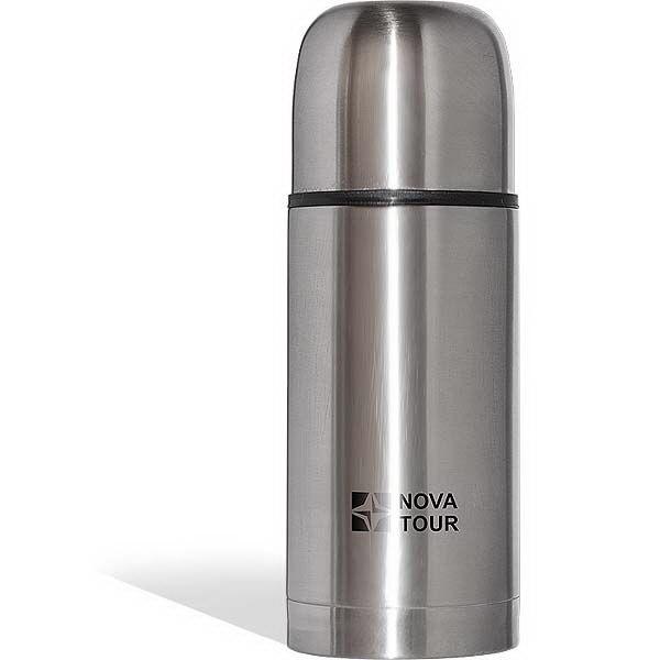 Термос NovaTour Сильвер 1000Термосы<br>Данный термос выполнен из нержавеющей стали, благодаря расширенному горлу и пробке с поворотным клапаном, позволяет удобно хранить напитки и первые блюда.<br>