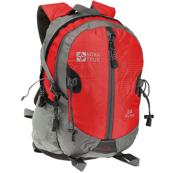 Рюкзак NovaTour Страйк 24 (серый/красный)Рюкзаки<br>Рюкзак NovaTour Страйк 24  - вместительный, удобный  молодежный рюкзак. Очень легко транспортируется за счет совей компактности.<br>