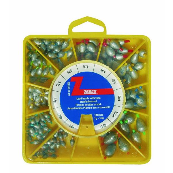 Набор грузил Zebco 11 видов ( 1гр-13гр )Грузила, отцепы<br>Набор грузил в коробочке с отсеками. Коробка позволит не потерять грузила на берегу или в лодке.<br>