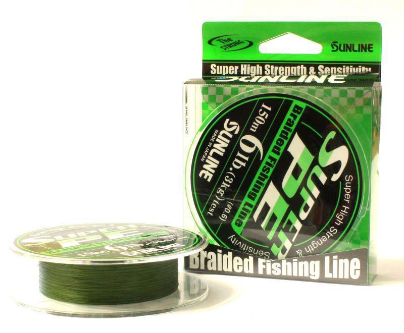 Леска плетеная Sunline new Super PE Dark Green 150 мПлетеные шнуры<br>Леска изготовлена из 4 тончайших нитей, которые делают ее практически нерастяжимой и крепкой.<br>