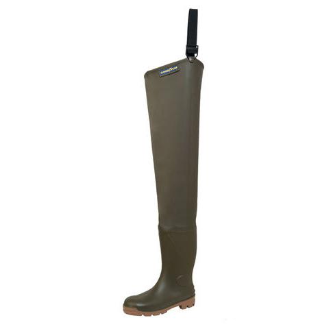 Сапоги Goodyear Cuissarde Plus 80 cm reinforced high waders, р. 46 (63216)Сапоги<br>Сапоги Goodyear Cuissarde Plus для рыбалки и охоты в водно-болотных условиях. Высота 80 см. Надежная модель высокого качества производства Франции.<br>