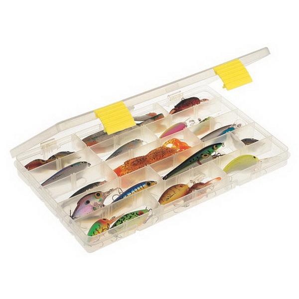 Коробка Plano 2-3701-00Коробки<br>Коробка для рыболовных принадлежностей, выполнена из ударопрочного пластика, с надежными запорами.<br>