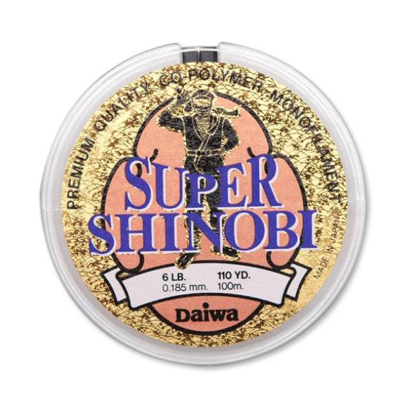 Монолеска Daiwa Super Shinobi 100 м 2LB/0.104 mm (103198)Монофильные лески<br>Леска Daiwa Super Shinobi от компании Daiwa - одна из лучших представителей нейлоновых моделей. В этом случае, основной материал позиционируется Premium классом. Super Shinobi изначально позиционируется, как лучший вариант для ловли морской форели. Однако...<br>