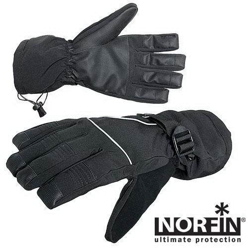 Перчатки Norfin с фиксат. р.L (69426)Варежки/Перчатки<br>Зимние перчатки, с утеплением. На манжете имеется фиксатор - для регулировки диаметра и плотной утяжки.<br>