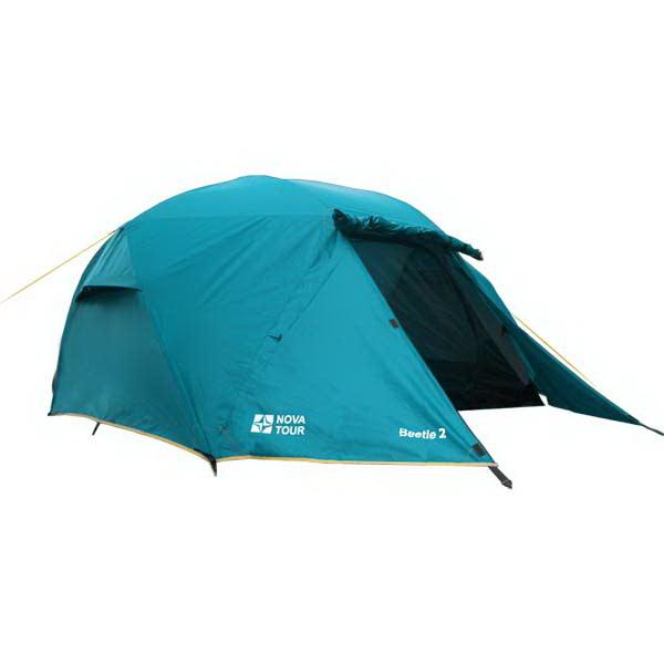 Палатка NovaTour Битл 2 (Нави)Палатки<br>Двухместная туристическая палатка с оригинальной конструкцией каркаса - радиальным сочленением дуг для максимального увеличения внутреннего объема. Палатка обладает идеальным балансом между весом, характеристиками и возможностями.<br>