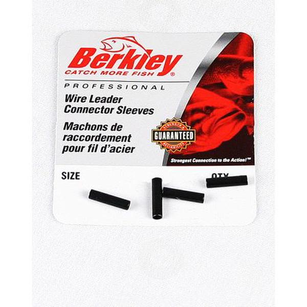 Трубочки Berkley обжимные Mc Mahon Connector Sleeve 1277809Обжимные трубочки<br>Одним из надёжных продуктов фирмы являются пластичные и крепкие обжимные трубочки для поводка. Подбирать диаметр обжимной трубочки для поводка следует таким образом, чтобы в неё 2-3 раза вмещалось проводочное полотно.<br>