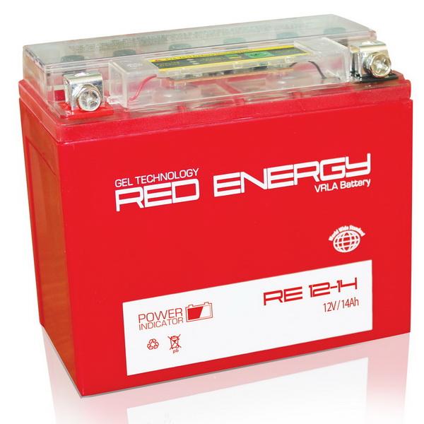Аккумулятор Red Energy RE 12-14Аккумуляторы<br>Аккумулятор с напряжением 12V, предназначенный для использования в дизельных генераторах, мотоциклах, водных мотоциклах и другой технике.<br>