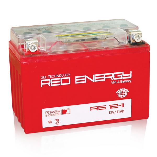 Аккумулятор Red Energy RE 12-11Аккумуляторы<br>Аккумулятор с напряжением 12V, предназначенный для использования в дизельных генераторах, мотоциклах, водных мотоциклах и другой технике.<br>