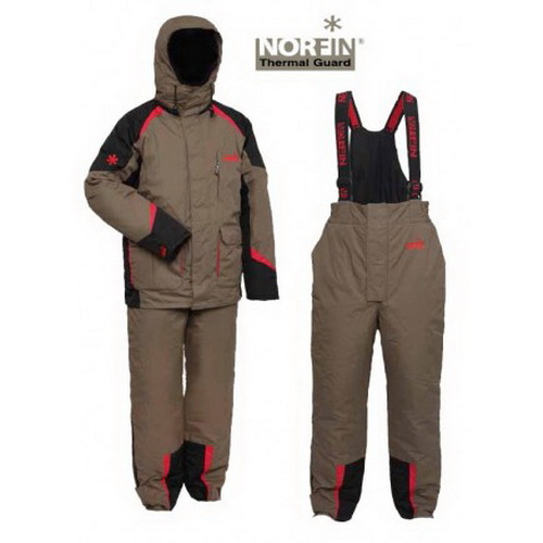 Костюм зимний Norfin TERMAL GUARDКостюмы/комбинзоны<br>Утеплённый костюм свободного кроя убережёт рыбака от снега и холодного ветра.<br>
