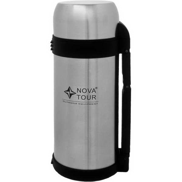 Термос NovaTour Ти-Рэкс 1200Термосы<br>Вакуумный термос NovaTour Ти-Рэкс 1200 для удобства использования выполнен из нержавеющей стали с широким горлом, съемным регулируемым ремешком и пластиковой ручкой для переноски.<br>