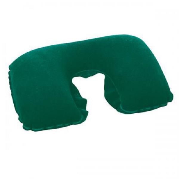 Подушка Bestway подголовник надувная Flocked Travel Pillow 67006