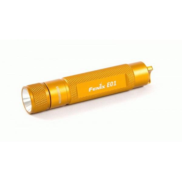 Фонарь Fenix E01 оранж с батарейкой E01ybkФонари ручные<br>Компактный фонарик в виде брелка, предназначенный для использования в быту. Он также станет незаменимой вещью в туристических походах и поездках<br>