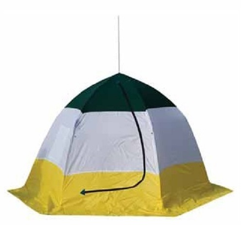 Палатка зимняя TROUT PRO Ice Shelter 4Палатки для зимней рыбалки<br>Палатка зимняя TROUT PRO Ice Shelter дышащая, двухслойная Предназначена для зимнего подледного лова. Палатка состоит из двух слоев ткани. Между ними создается воздушное пространство, что обеспечивает более комфортное нахождение в палатке..<br>