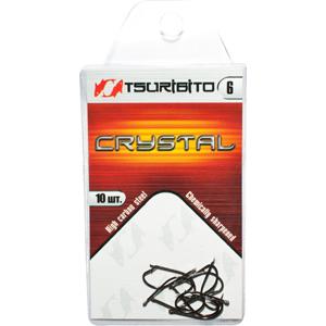 Крючки рыболовные Tsuribito Crystal №6 (в упак. 10шт.) (BN)Одинарные крючки<br><br>