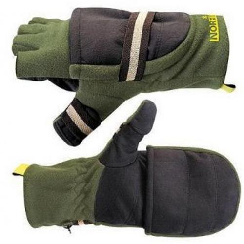 Перчатки-варежки Norfin отстег. р.XL (43495)Варежки/Перчатки<br>Флисовые перчатки для рыбной ловли, с снимающимися варежками.<br>