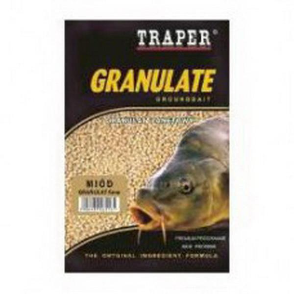 Прикормка Traper Granulates 1kg Honey 4mm (Мед) 05000Прикормки<br>Тщательно подобранные элементы, входящие в состав прикормки, отлично привлекают рыбу с большого расстояния. В воде смесь создает специфический аромат, позволяющий удерживать рібу в прикормочной зоне длительное время<br>