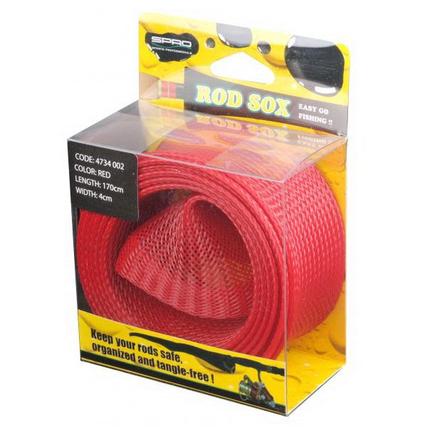 Чехол Для Удилищ Spro Rod Sox Red 170см. X 4см. 6X1 St.Тубусы и чехлы для удилищ<br>Модель представляет собой специальное покрытие для защиты удилища, проста в обращении, изготовлена с сетчастого материала. Фирма - производитель продолжает разработку новых стандартов в этой области.<br>