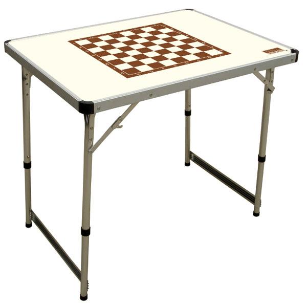 Стол шахматный складной Camping World CW Chess Table IvoryСтолы складные<br>Складной стол может регулироваться по своей высоте. Обладает небольшим весом и простотой конструкцией. Столешница не боится влаги, благодаря специальному водоотталкивающему покрытию. За этим столом Вы можете не просто принимать трапезу, но и сыграть парти...<br>