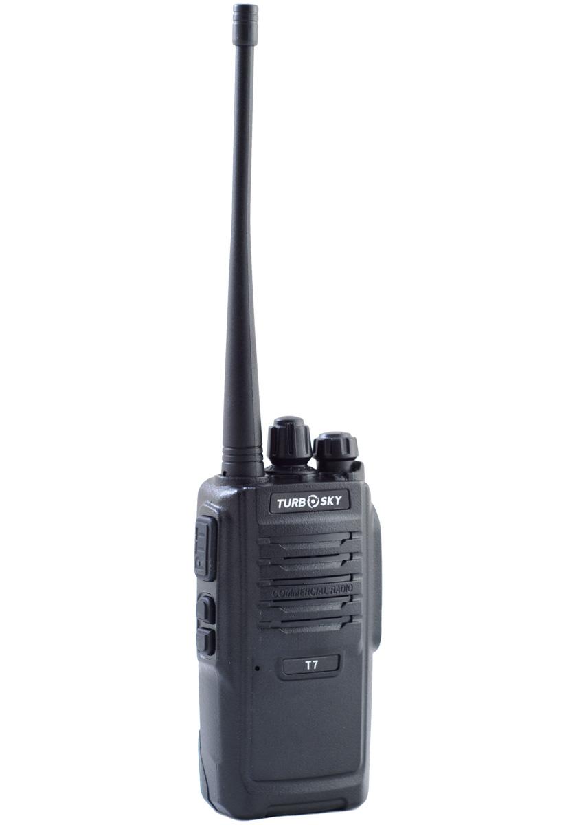 Радиостанция Turbosky T 7Полупрофессиональные<br>Радиостанция Turbosky T7 имеет отличную комплектацию. Станция турбоскай 7 имеет компактные размеры и небольшой вес.<br>