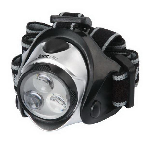 Фонарь налобный Jazzway H5-L03+2CR2032Фонари налобные<br>Светодиодный налобный фонарь. Свет излучается за счет яркого светодиода мощностью 3 Вт.<br>
