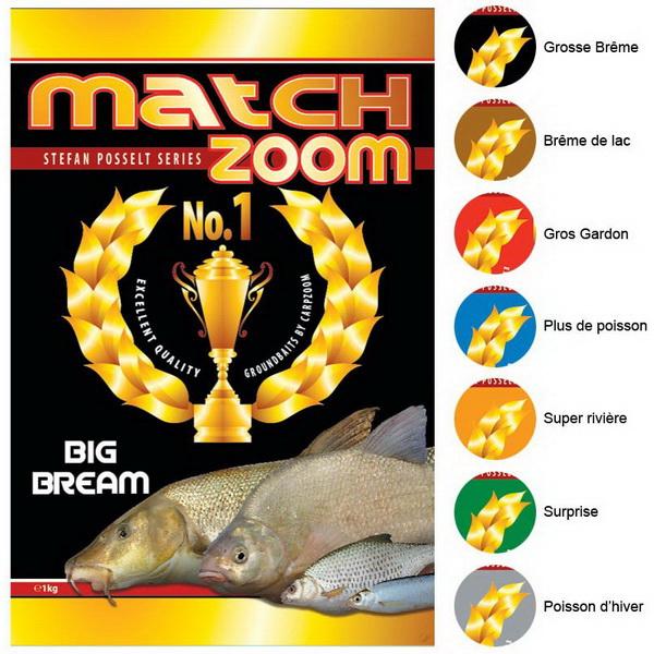 Прикормка Carp Zoom Match Zoom №1 большой Лещ 1кгПрикормки<br>Прикормка подходит для использования в водоемах с небольшим течением. В его состав входит качественное сырье, имеющее специфический аромат и вкус<br>