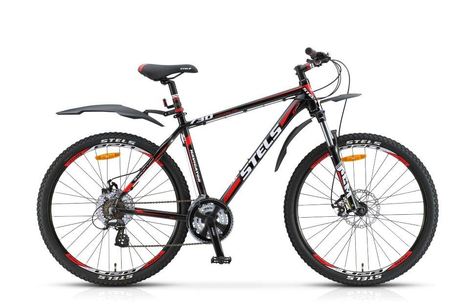 Велосипед Stels Navigator-730 MD 26.13Велосипеды Stels<br>Велосипед Stels Navigator 730 D 27.5 (2015) - дисковая версия модели велосипеда Navigator 730. Вседорожный велосипед с лёгкой гидроформованной рамой, оснащённый амортизационной вилкой с ходом 100 мм, с возможностью регулировки жёсткости и отключения амор...<br>