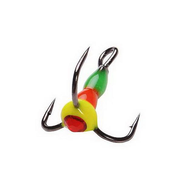 Крючок тройн. Salmo для приман. LJ Scandi с каплей светонакоп.Тройники<br>Крючок – тройник для приманок. Тройник оснащен пластиковой цветной каплей, которая очень хорошо привлекает внимание рыбы в воде.<br>