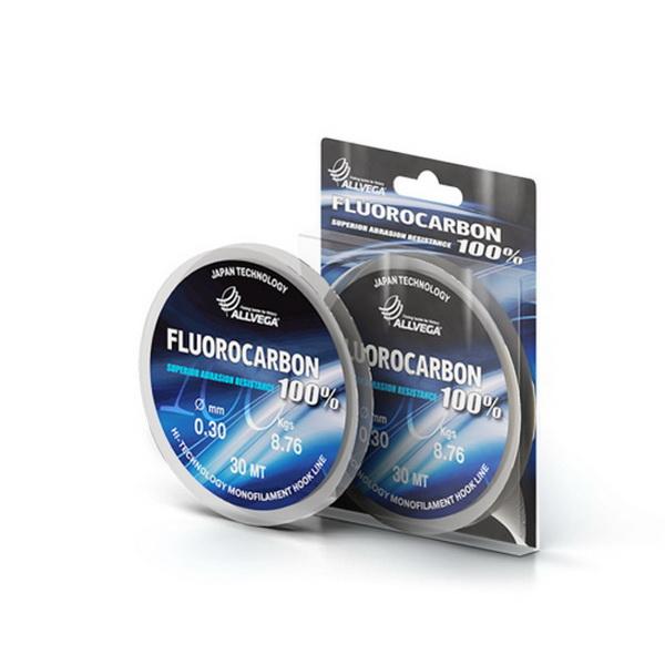Монолеска Allvega FX Fluorocarbon 100% 20м 0,60мм (26,12кг) флюорокарбон 100% (76553)Поводковый материал<br>Высококачественная монолеска с содержание флюорокарбона, который делает её незаметной в воде. Прекрасно подходит для подводной ловли даже хищной рыбы.<br>