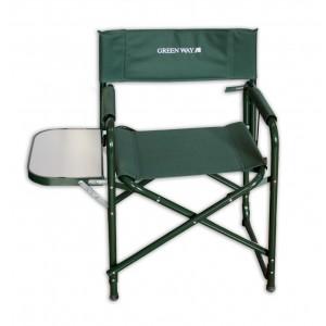Стул раскладной GreenWay с выдвижной столешницейСтулья, кресла складные<br>Комфортное складное кресло с подлокотниками и с выдвижной столещницей. Кресло легко складывается и раскладывается, имеет малый вес.Выдерживает нагрузку до 120 кг.<br>